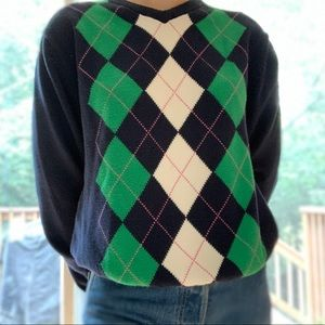 Vintage American Eagle Argyle Pullover Sweater